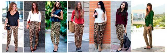 Estampado de leopardo combina con todo