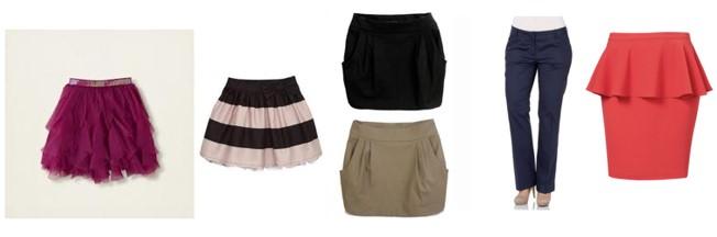 faldas cuerpo triangulo invertido