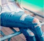 Jeans rasgados y desgastados