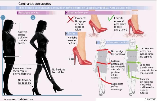 caminando con tacones